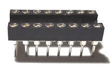 20pcs Ic Sockets Dip 16 Machined Round Contact Pins Holes 254mm Dip16 Dip 16