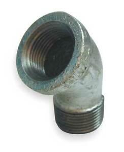 Zoro-Select-6Kj06-1-034-Fnpt-X-Mnpt-Galvanized-45-Degree-Street-Elbow