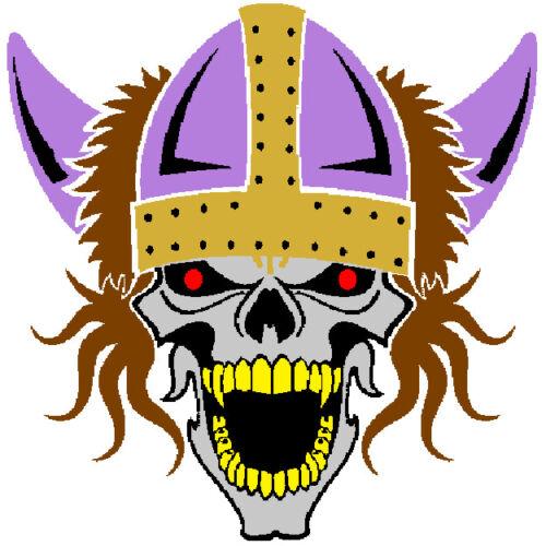 30 Custom Purple Viking Skull Personalized Address Labels