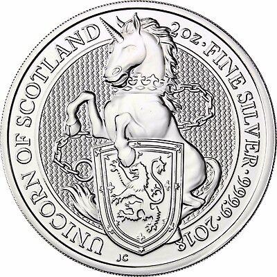 Großbritannien 5 Pfund 2018 Einhorn Von Schottland Queen's Beasts Silbermünze Auswahlmaterialien