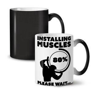 Muscle Gym Fitness Sport NEW Colour Changing Tea Coffee Mug 11 oz | Wellcoda