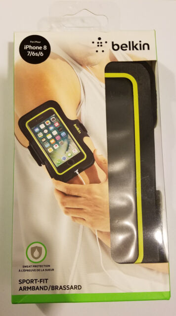 """Sport-Fit Armband Arm Band Black for Apple iPhone 8 7 6 6S 4.7"""" Jog Run"""