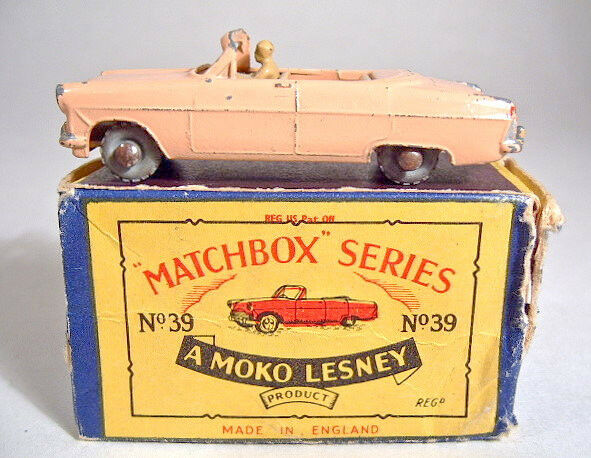 MATCHBOX No.39A Zodiac Convertible Peach Body RARE Tan sièges