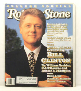 ROLLING STONE MAGAZINE 639 Bill Clinton Red Hot Chili Peppers Sept 17 1992 F5