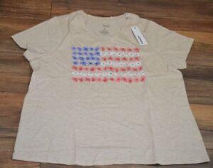4da11704081 Sonoma The Everyday Tee Plus Size T-Shirt V Neck Flower American ...