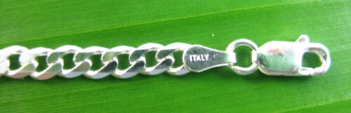 """MADE IN ITALY 925 Sterling Silver 4mm CURB /""""BRACELET anklet/"""" 7/""""//8/""""//9/""""//10/"""" UNISEX"""