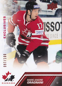 13-14-Team-Canada-Marc-Andre-Gragnani-100-RED-Exclusives-Upper-Deck-2013