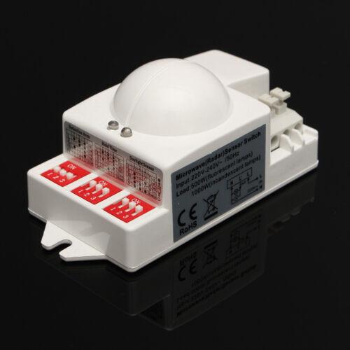 T-9800 5.8GHz 220V//240V Microwave Motion Detector Radar Sensor Switch 5.8GHz For