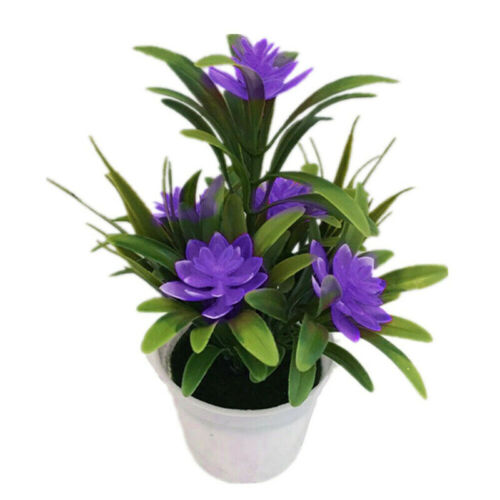 Artificial Bonsai Fake Flowers Plant Potted Outdoor Home Office Desk Party Decor