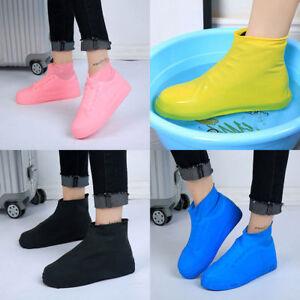 Reusable-Durable-Rubber-Rain-Boot-Shoe-Covers-Outdoor-Bike-Anti-slip-Overshoe-ua