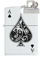 Zippo 9131 Vintage Ace Of Spades Lighter With Pipe Insert