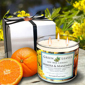 Handmade-Mimosa-amp-Mandarin-Soy-Candle-Scented-Candles-Scented-Soy-Candle