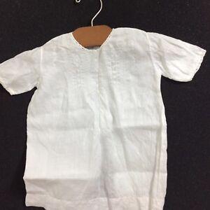 f0cb21048 Image is loading VTG-Handmade-Newborn-Gown-Baptism-Christening-Dress -Embroidered-