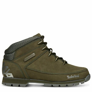 Timberland-A1VR9-Euro-Sprint-EK-Mens-Leather-Hikers-Hiking-Boots-Green-Size