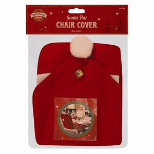 Santa-Sombrero-Comedor-Cubresillas-Fiesta-de-Navidad-cubrir-Mesa-Rojo-Decoracion