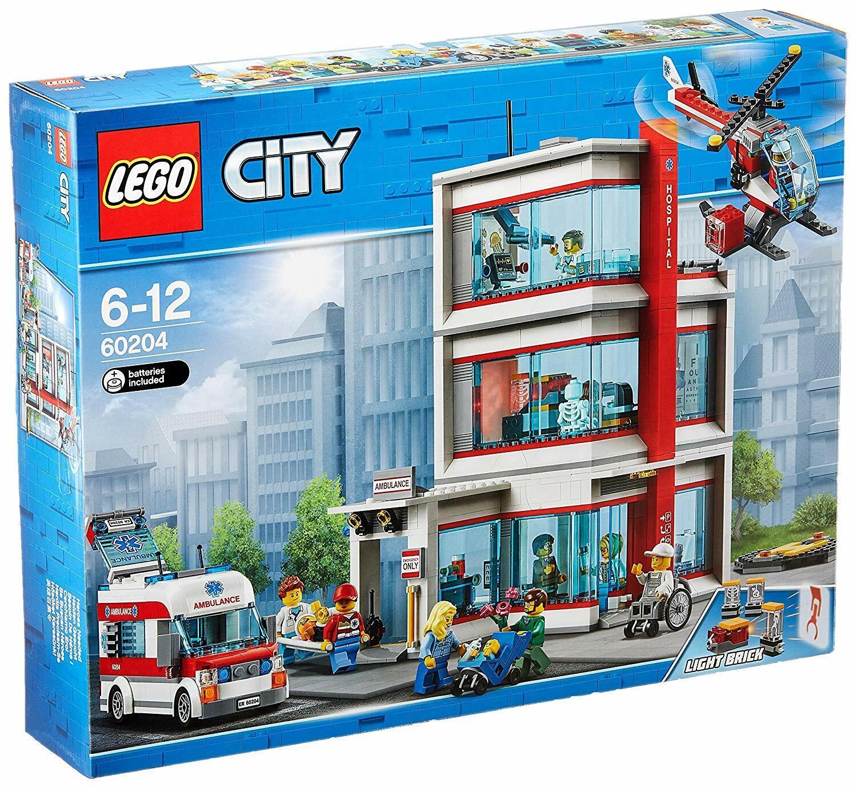 LEGO CITY  SET  hôpital 60204  Hospital  ambulance Hélicoptère LEGO  service honnête