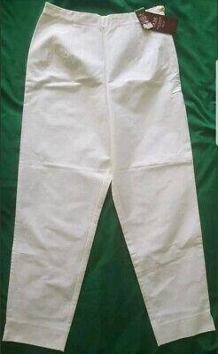 Frugale Bnwt Vintage Capri Pants-m&s St. Michael - 1990s Di Cotone Con Lycra-uk 12-
