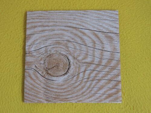 20 Servietten HOLZ Natur 1 Packung OVP Motivservietten wood Baum Ringe Ast Maki