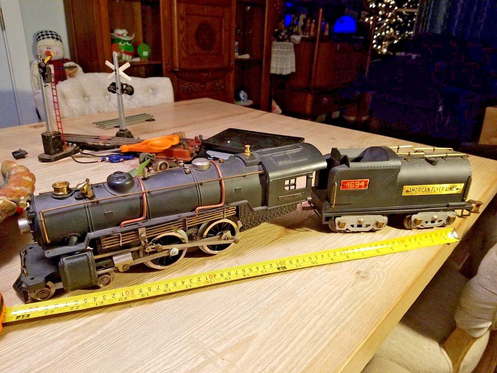 American Flyer líneas 4694 estándar de la locomotora de vapor Gauge Hermosa unidad 10