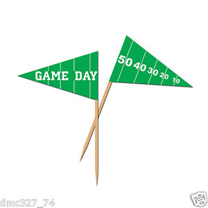 50-FOOTBALL-Tailgate-Super-Bowl-GAME-DAY-Party-Food-Cupcake-Hors-D-039-Oeuvers-PICKS
