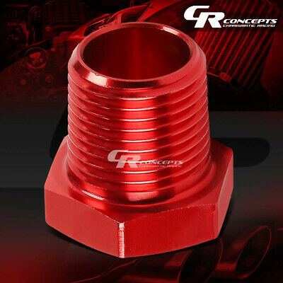 """RED ANODIZED ALUMINUM 1//4/"""" MALE TO 1//8/""""FE MALE NPT PIPE BUSHING REDUCER FITTING"""