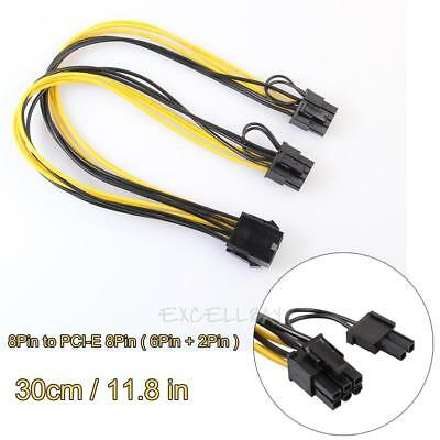 2pcs 8Pin to Graphics Video Card Double PCI-E 8Pin(6Pin+2Pin) Splitter Cable