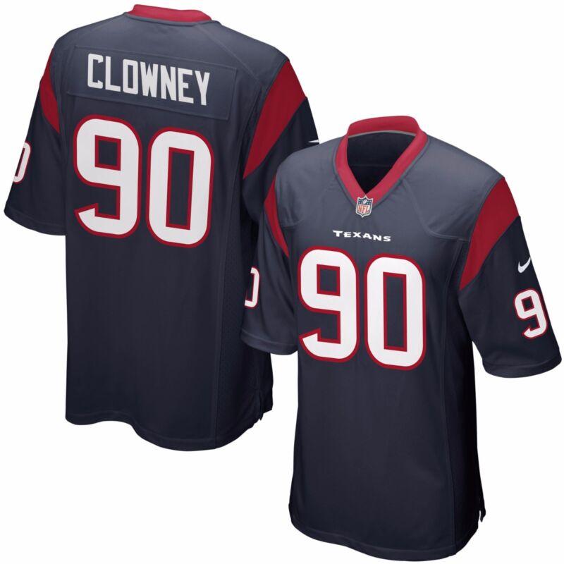 Nwt Jadeveon Clowney #90 Houston Texans Nike Home Jersey Size Youth Large 14-16