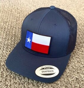 State of TEXAS Flag Hat SnapBack Trucker Mesh Cap Handcrafted in the USA!