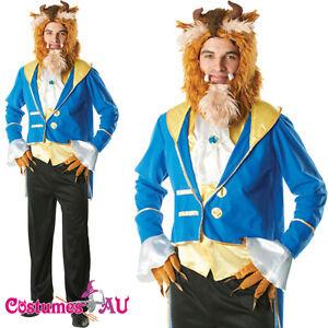 Image is loading Mens-Adult-The-Beast-Disney-Beauty-And-Beast-  sc 1 st  eBay & Mens Adult The Beast Disney Beauty And Beast Costume Prince Charming ...