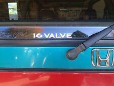 Honda Civic 16 Valve rear window decal EF EF9 JDM SI SIR 1989 1990 1991