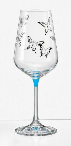 Bohemia Weingläser Butterfly Weinglas 350 ml mehrfarbig 6er Set