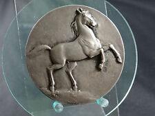 Silbermedaille .925 Wettbewerb Pferderennen Saignelegier 1938 Pferd (814)