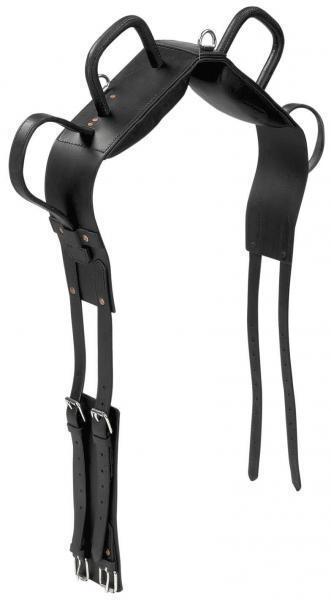 Voltigiergurt, longiergurt cuero, negro, pinzamientos pinzamientos pinzamientos y pierna presillas, P y WB ca3339