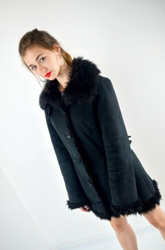 Coat Woman Jacket S Vintage Fur 36 Black Artificial fr Balmain Size xpxwf