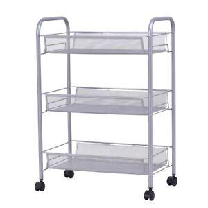 office trolley cart. Image Is Loading 3-Tier-Kitchen-Trolley-Cart-Island-Steel-Mesh- Office Trolley Cart