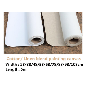 Primed-Canvas-Roll-5m-Blank-Oil-Painting-Cotton-Linen-Blend-High-Quality-Artist