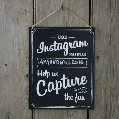 VINTAGE AFFAIR GINGER RAY INSTAGRAM CHALKBOARD STYLE WOODEN WEDDING SIGNS