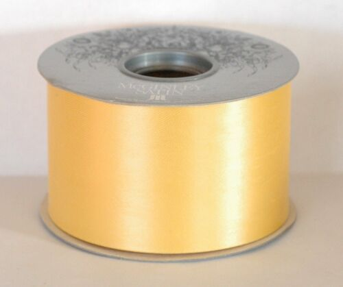 "50 Yards 2 1//2/"" Wide McGinley Mills 1 Roll Yellow  #40 Satin Ribbon"