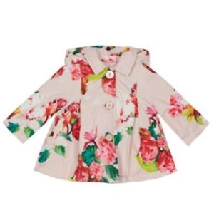 a75760d2b1e8 Baker by Ted Baker - Baby girls  pink floral print jacket BNWT