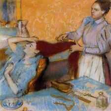 Metal Sign Woman Having Her Hair Combed 1892 1895 Pc A4 12x8 Aluminium