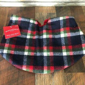 NEW-Wondershop-Plaid-Flannel-18-034-Mini-Christmas-Tree-Skirt