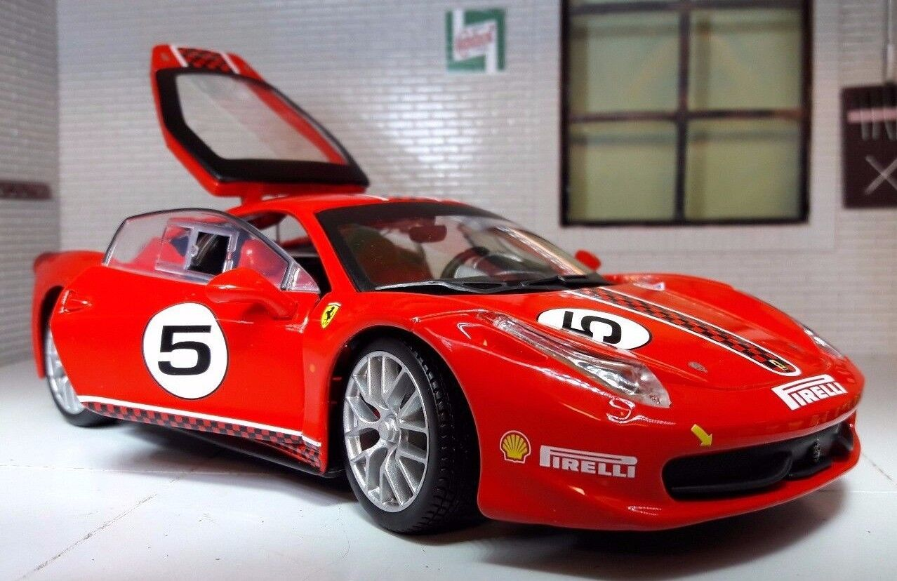 1 24 skala röd 26302 Ferrari 458 Challenge 2010 Italia Berlinetta V8 modelllllerlerl Bil
