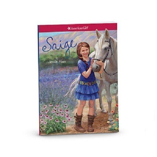 American Girl SAIGE DOLL BOOK BONUS Holiday purse bracelet GIFT SET sage