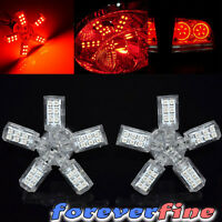 2pc 3157 Spider 5-arms Red 40 3528 Smd Led Dc 12v Rear Turn Signal Light Bulb