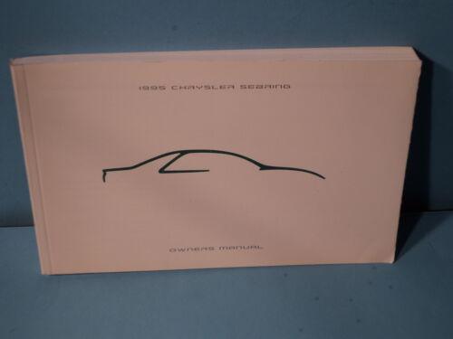 95 1995 Chrysler Sebring owners manual