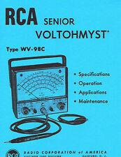 RCA WV-98C Senior Voltohmist VTVM Manual Reprint