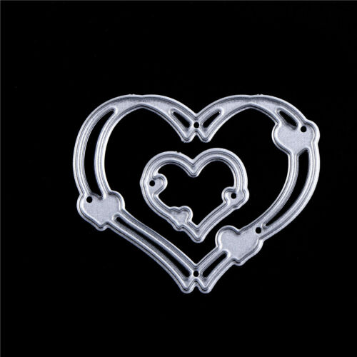2XLove Heart Metal Cut Dies Stencils for DIY Craft Cards Scrapbooking Decor LWY