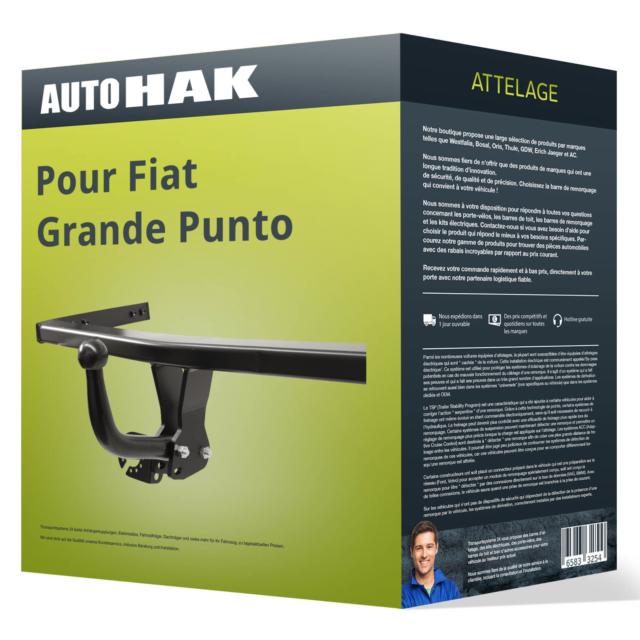 Attelage pour Fiat Grande Punto 05-09 démontable avec outil Auto Hak TOP
