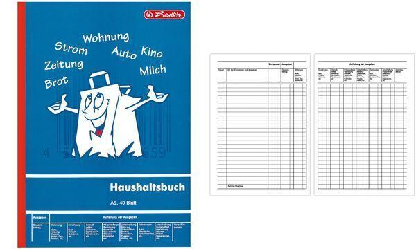 A5 Haushaltsbuch 40 Blatt Touchpen Kugelschreiber mit Gravur