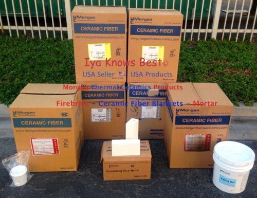 """K-23 Insulating Firebrick 4.5x4.5 x.50/"""" Fire Brick Morgan Thermal Ceramics 2300F"""